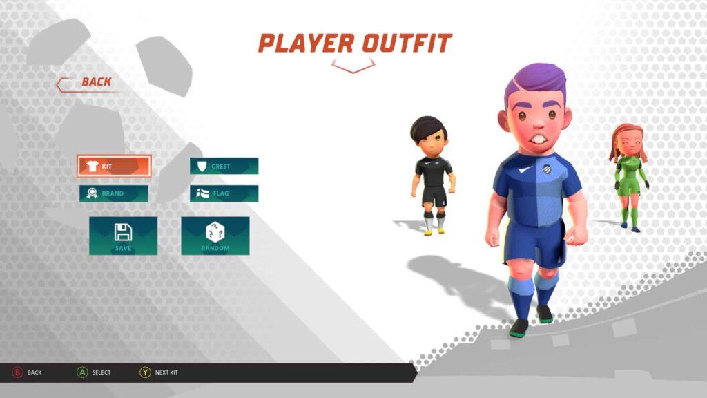 Super Blast Soccer - Character Creator