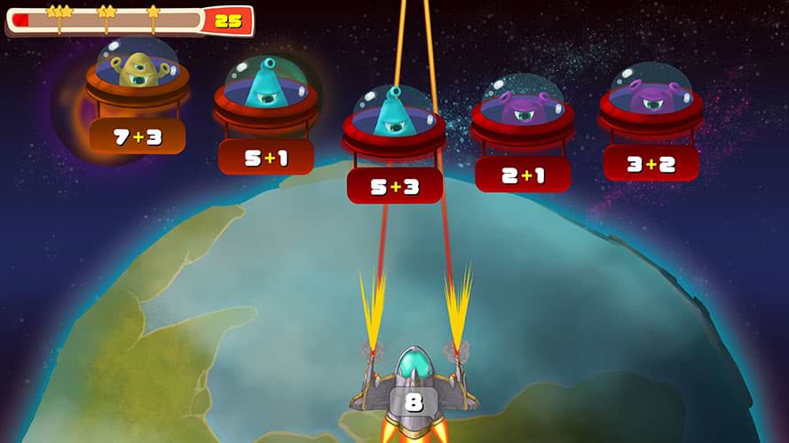 Educational Games For Kids - Maths Invaders
