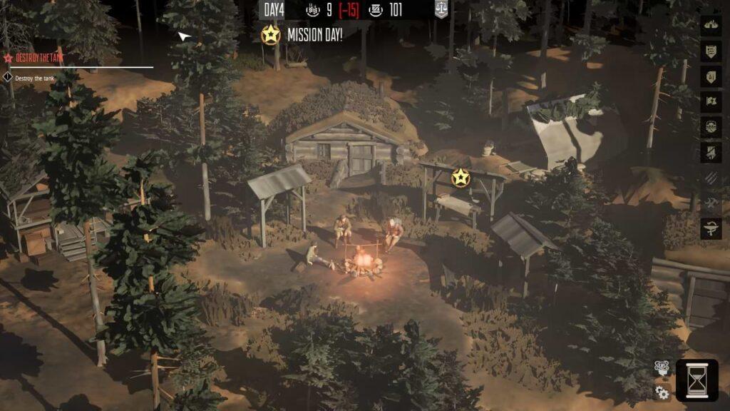 Partisans 1941 - Camp