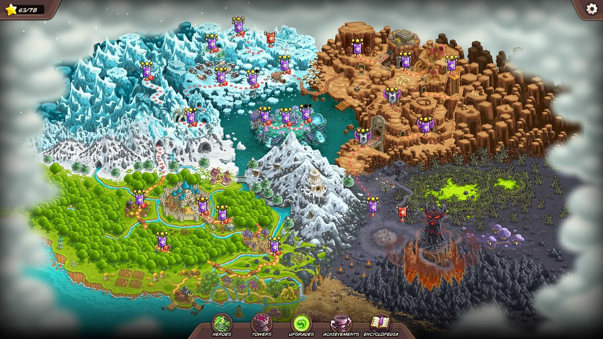 Kingdom Rush Vengence - Map