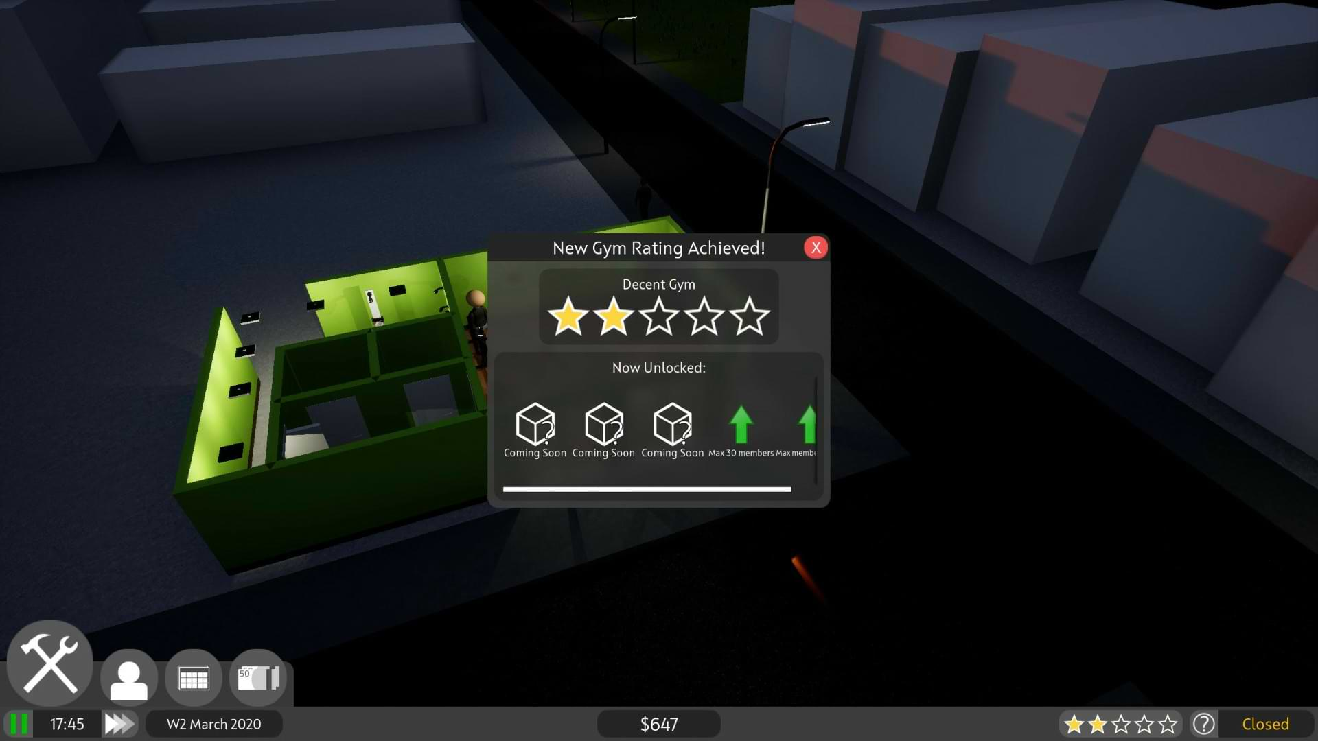 Gym Tycoon Early Access - Rating