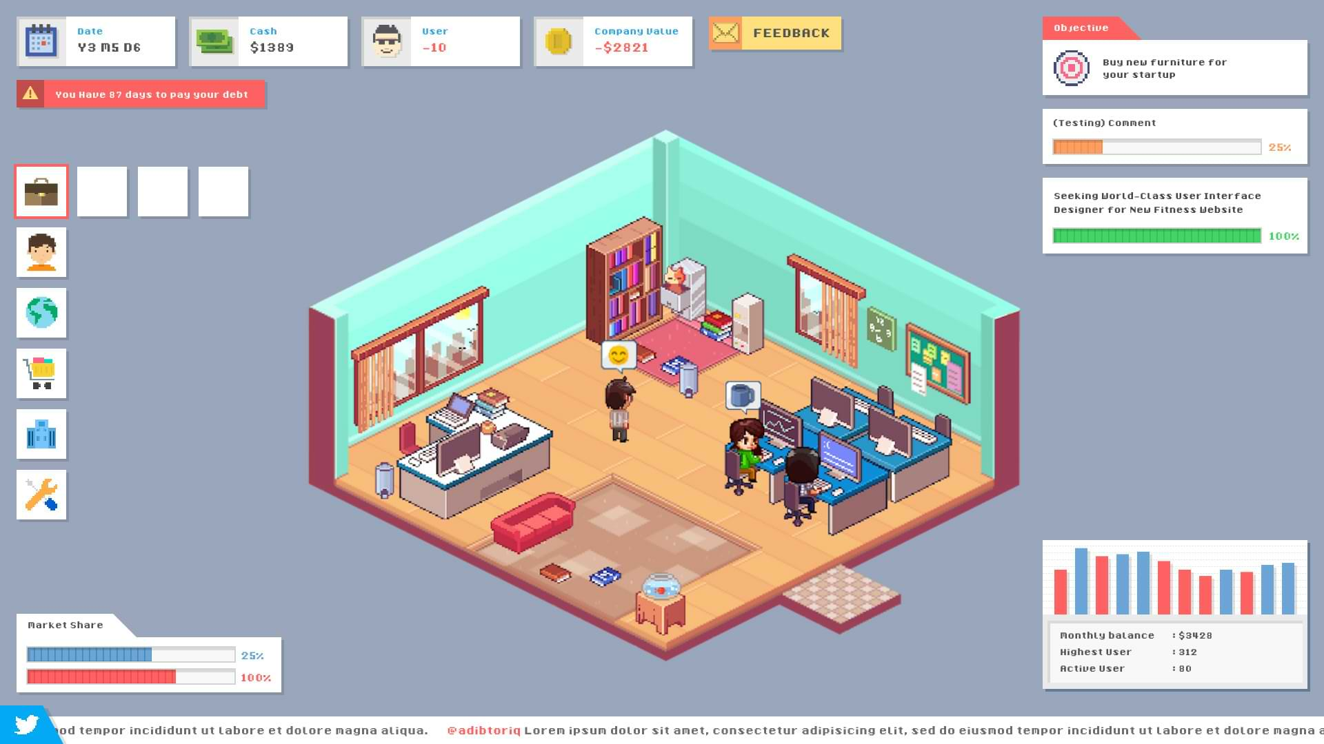 Startup Panic - Startup office