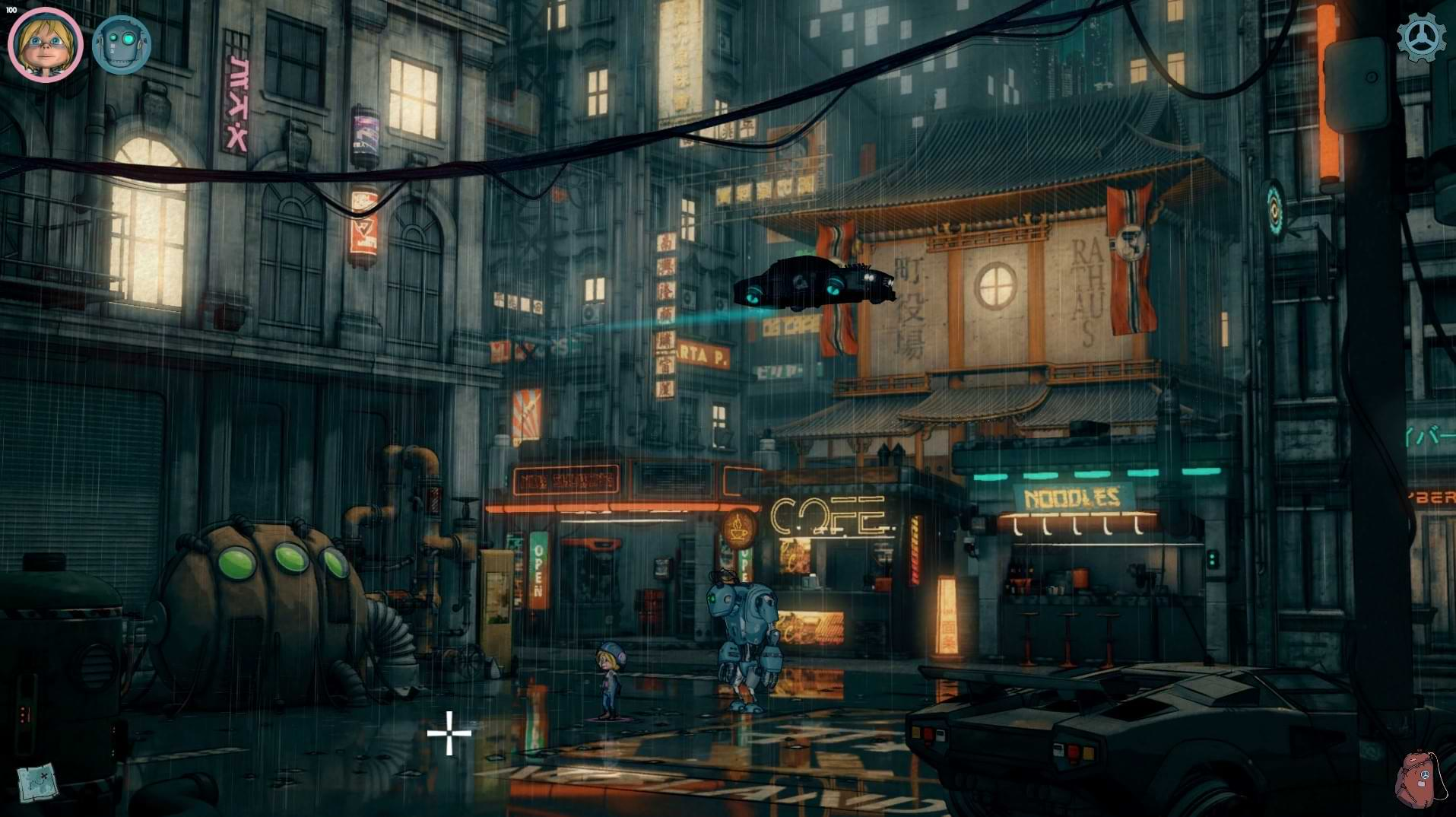 Encodya cyberpunk point and click out this month