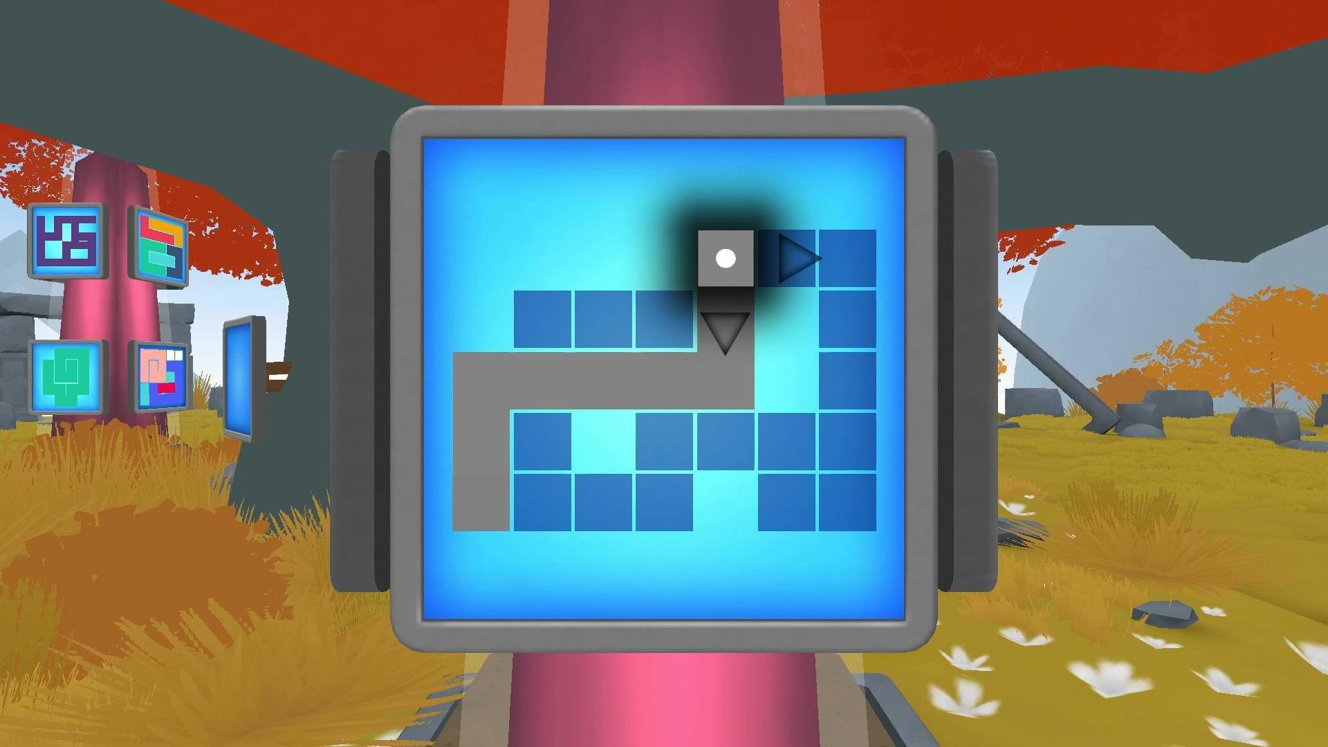 The Pillar Puzzle Escape - Grid