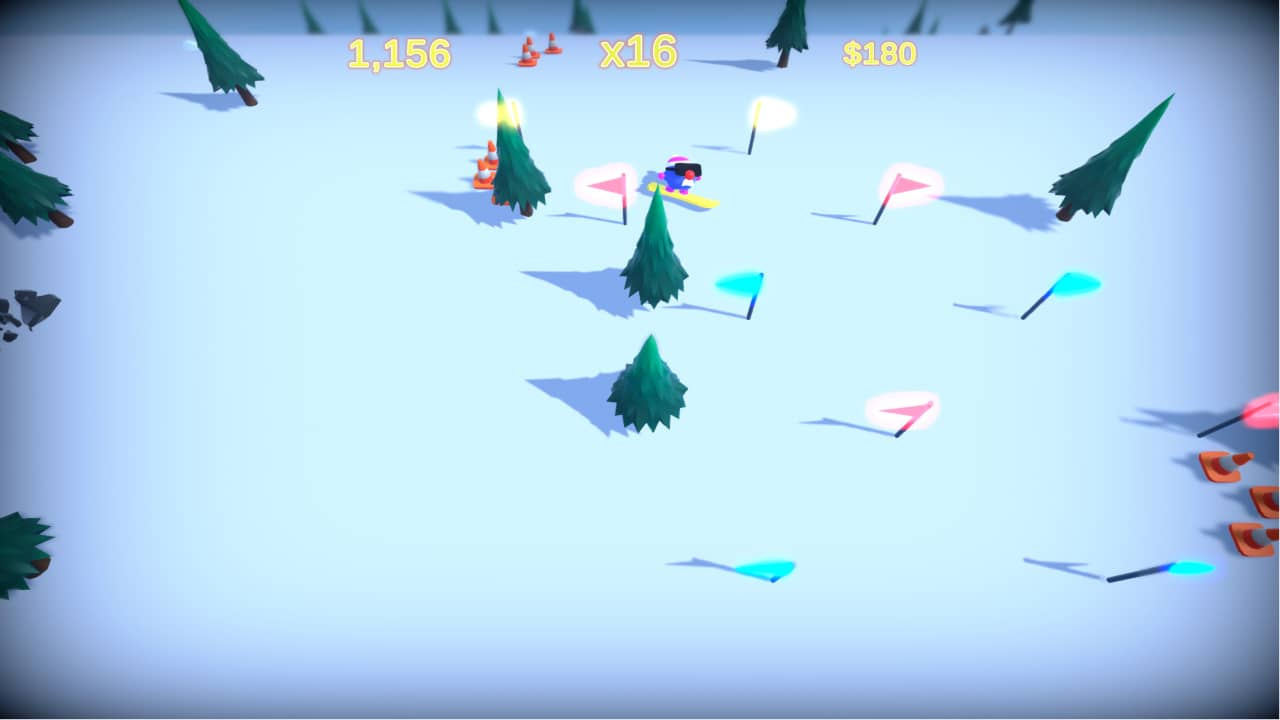 Horace Goes Snowboarding - Chain reaction