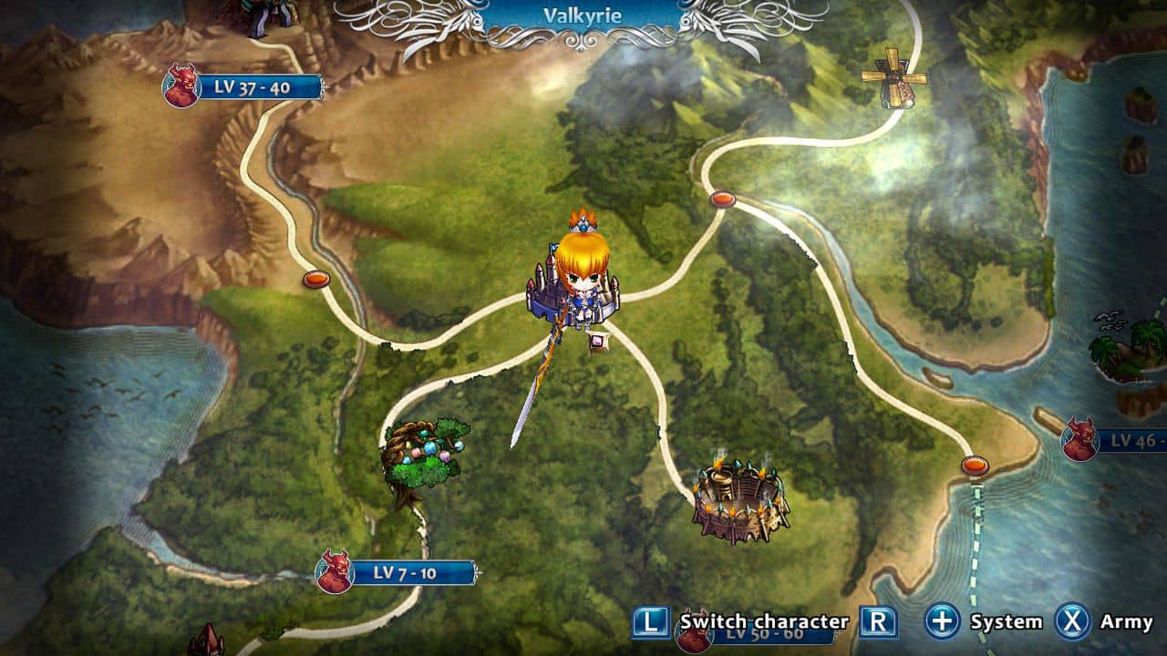 Empire Of Angels IV PS4 Review - World map